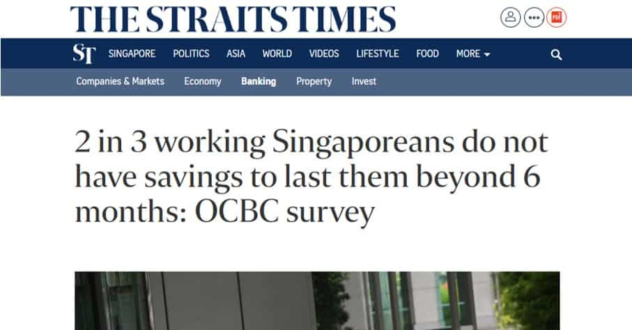 """Breaking Down """"2 in 3 working Singaporeans do not have savings to last them beyond 6 months"""""""