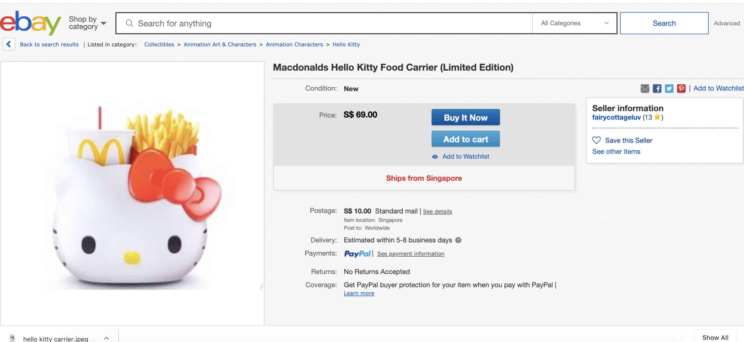 Selling My McDonald's Hello Kitty Collection: How Much Can These Toys Earn?
