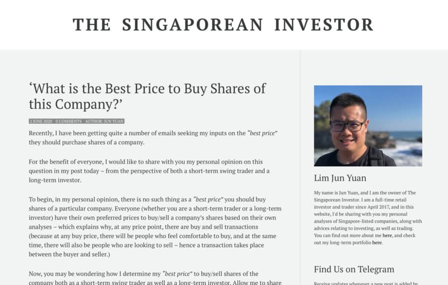 'What is the Best Price to Buy Shares of this Company?' (Guest Post)