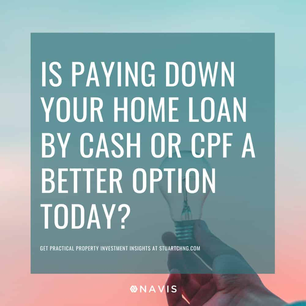 Is Paying Down Your Home Loan By Cash Or CPF A Better Option Today?