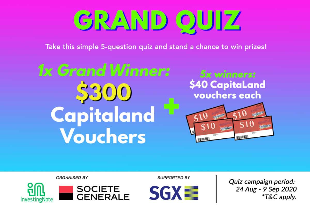 GRAND QUIZ: We're giving away $500 worth of Capitaland Vouchers!
