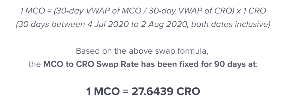 MCO Visa Cards to be 3x more expensive + MCO/CRO token swap