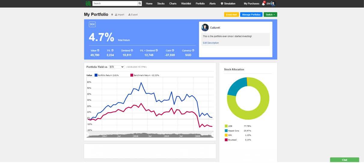 InvestingNote Feature Series –  Virtual Investment Stock Portfolio