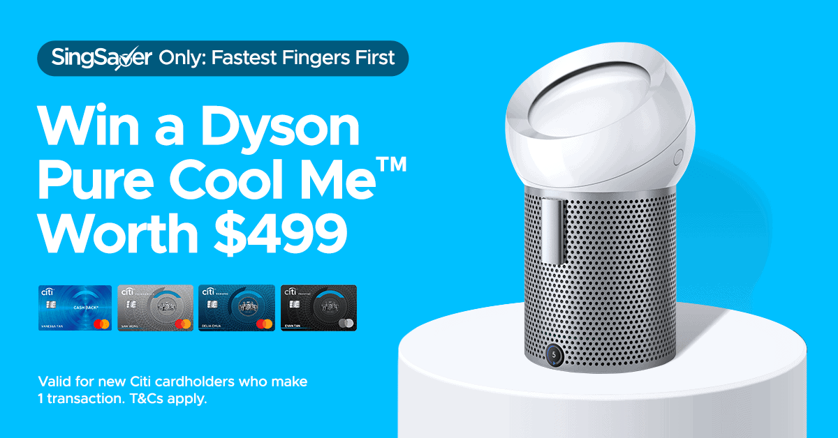 Deal: Fancy a Dyson Pure Cool Me™ ($499) or $300 via PayNow?