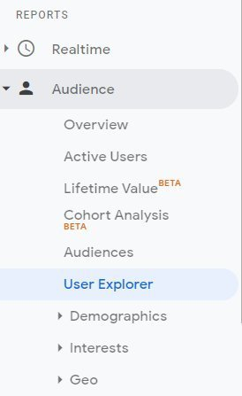 How to use User Explorer report in Google Analytics