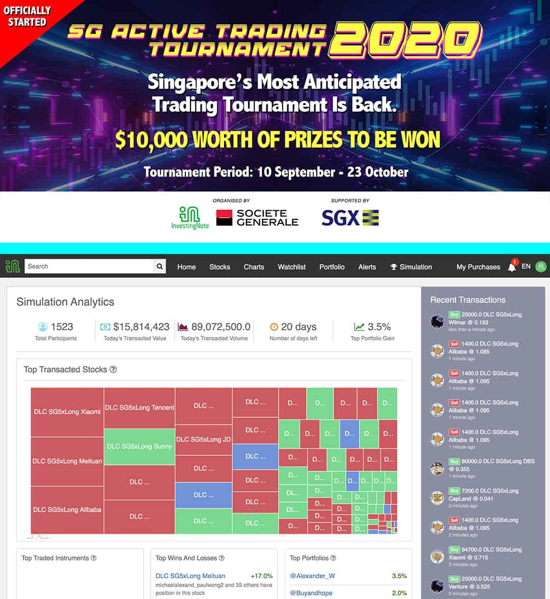 SG's Largest & Most Anticipated Trading Tournament Has Officially Begun!