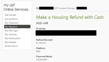 Cory Diary : CPF Housing Loan Refund Experience