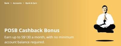 Earned 14x more cashback in POSB Cashback Bonus than in DBS Multiplier