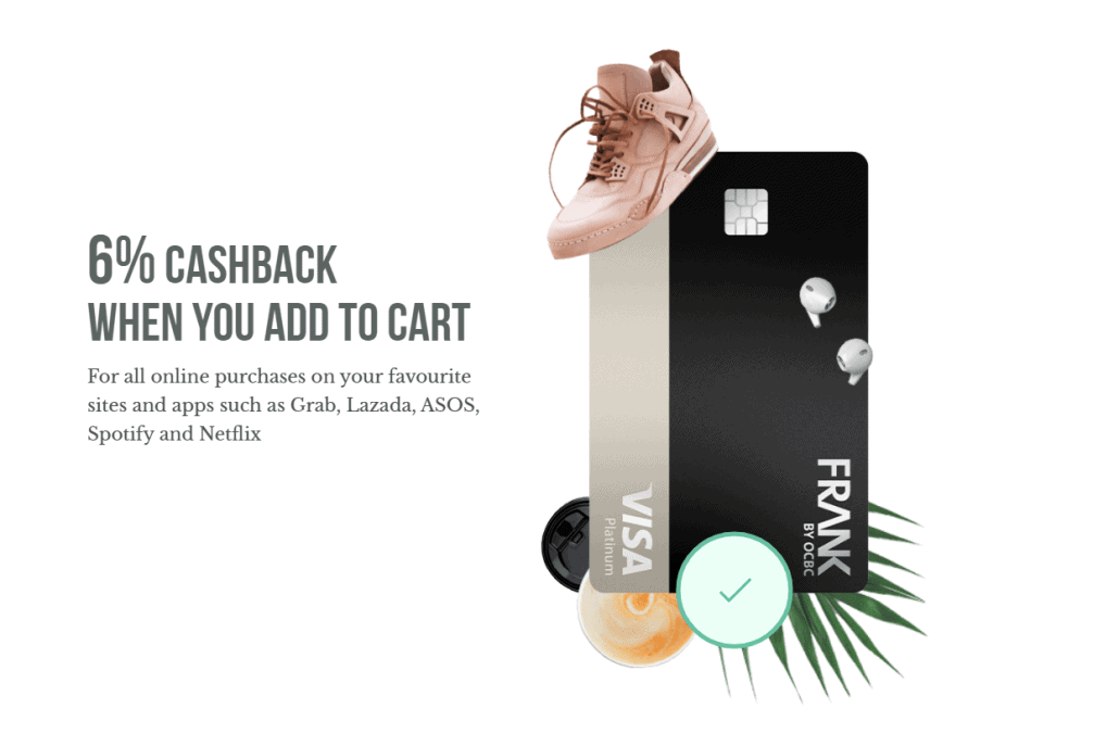 OCBC FRANK Credit Card Review – 6% cashback on all online and mobile contactless payments (min $600/mth)