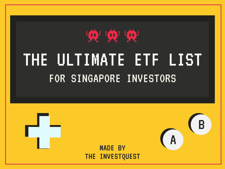 Ultimate Stock ETF List for SG Investors (4Q 2020)
