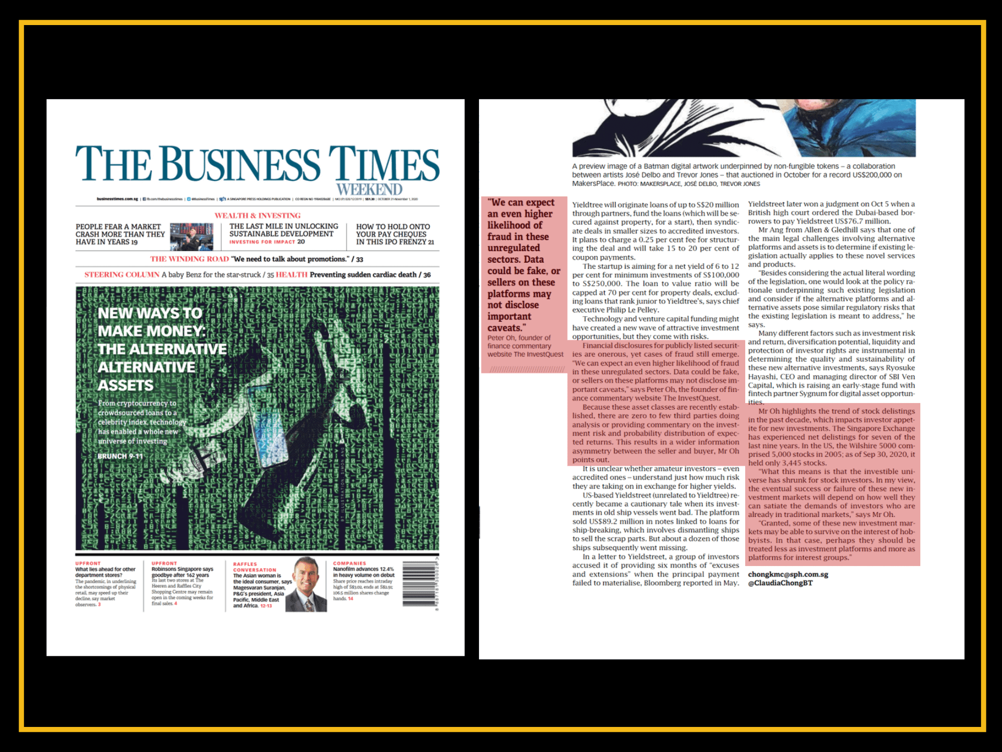 We've been quoted by The Business Times!
