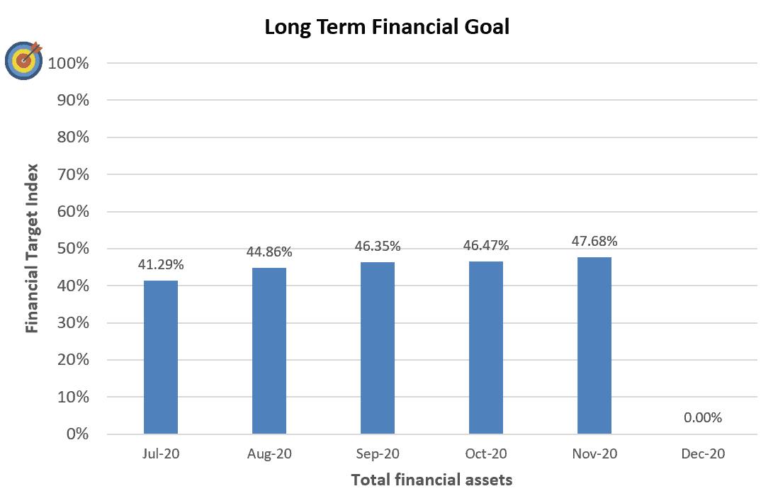 Financial Goal Progress November 2020