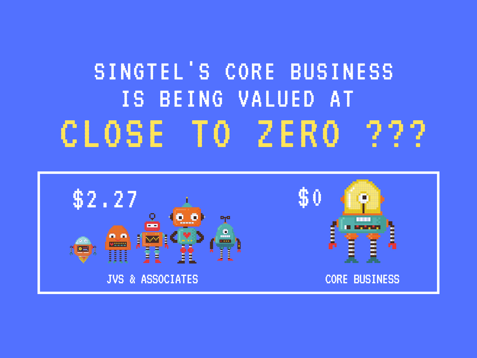 Singtel's Core Business is being valued CLOSE TO ZERO?!