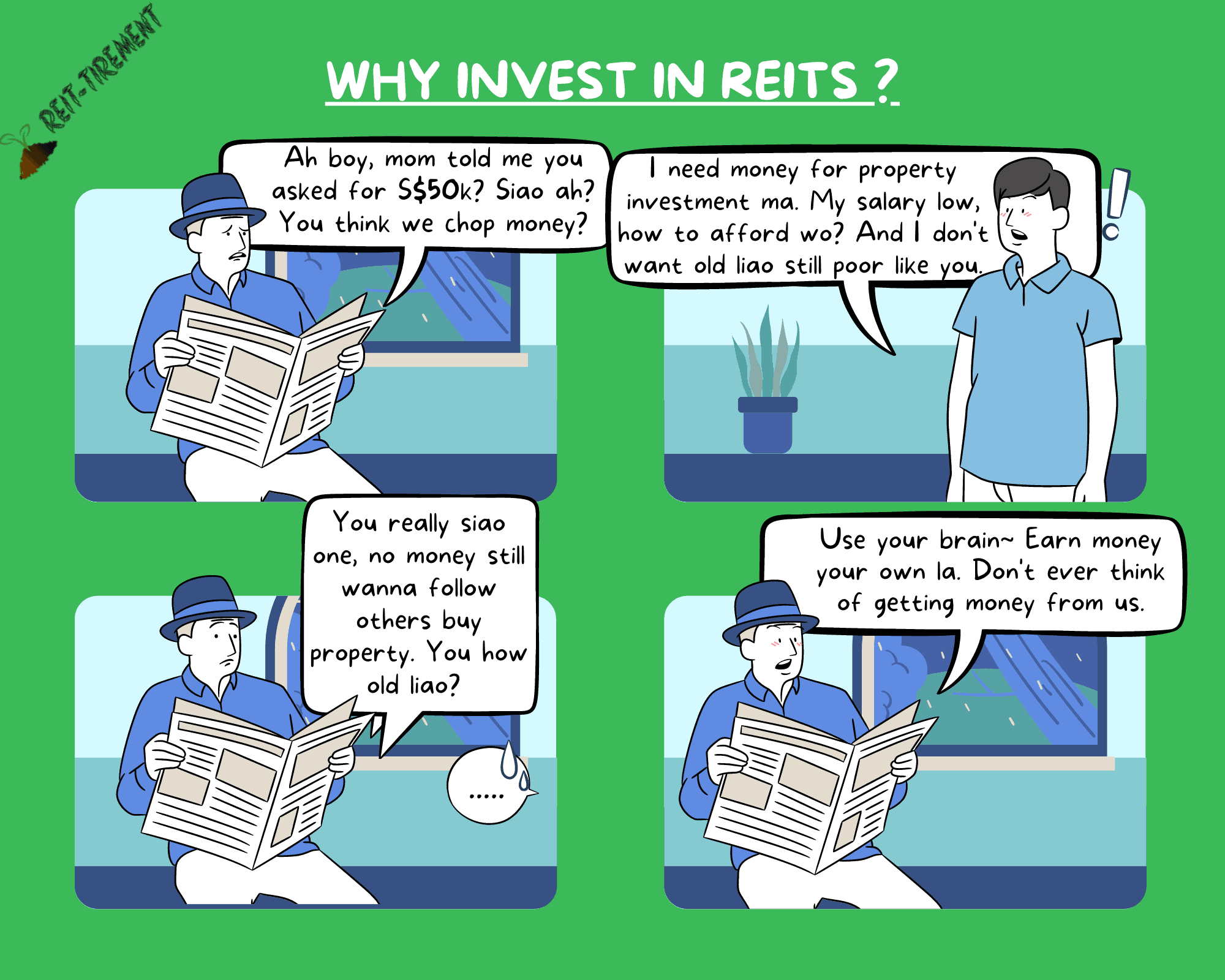 Comic Strip – Why Invest in REITs
