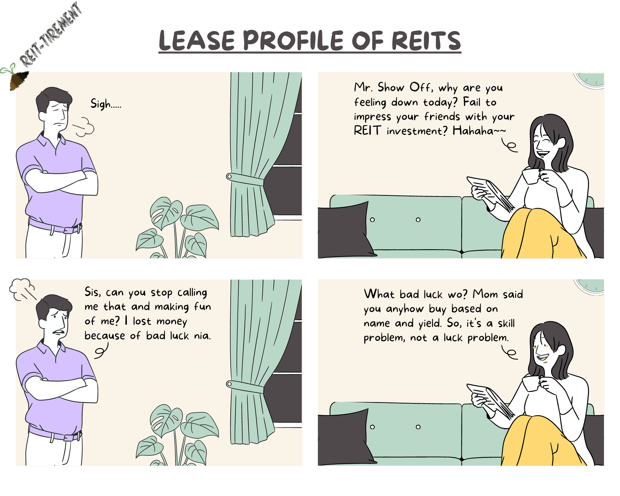 Comic Strip – Lease Profile of REITs