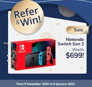 Christmas Special with PolicyPal | Win a Nintendo Switch Gen 2 (worth S$699 or Secretlab TITAN Stealth (worth S$634)