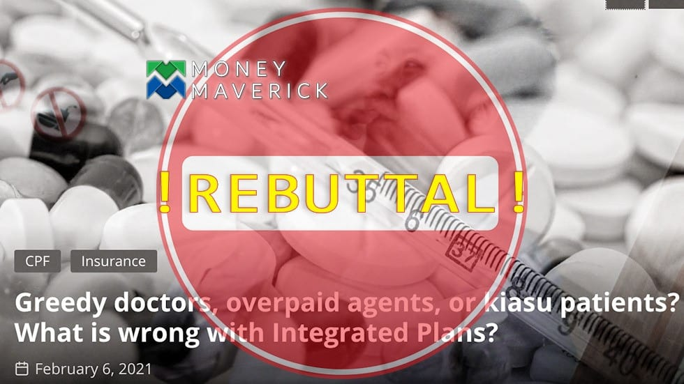 Greedy Doctors, Overpaid Agents, or Kiasu Patients? What is Wrong with Integrated Plans? – Rebuttal