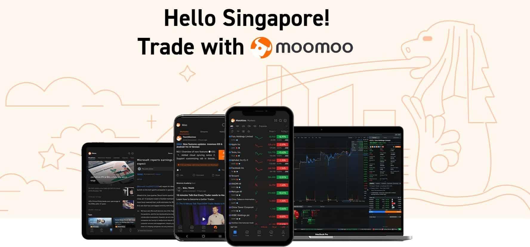 Low-cost online brokerage platform moomoo (by Futu) has finally arrived in Singapore!