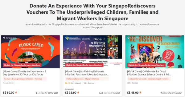 Donate Your SingapoRediscovers SRV Vouchers And Make A Difference Today