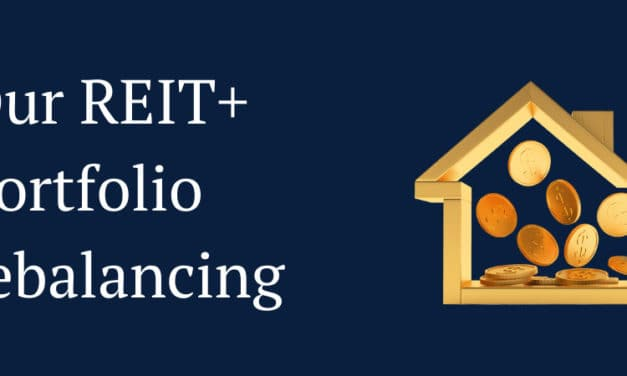 An Update On Our REIT+ Rebalancing