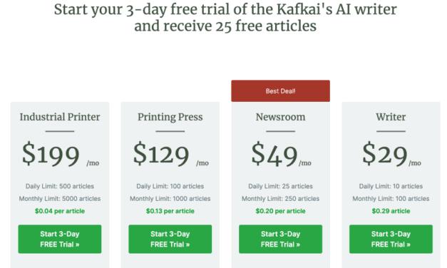 Kafkai Review – The AI article writer