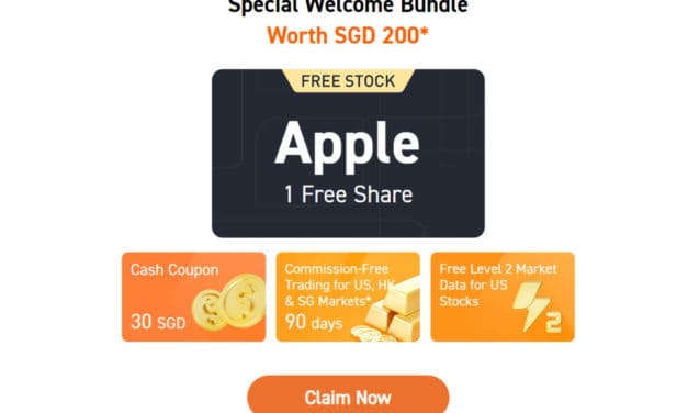Sign Up with New Singapore Broker FUTU and Get 1 FREE Apple Share and a $30 Cash Coupon. My Review of Moomoo
