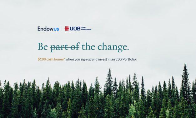 $100 cash bonus when you invest in ESG