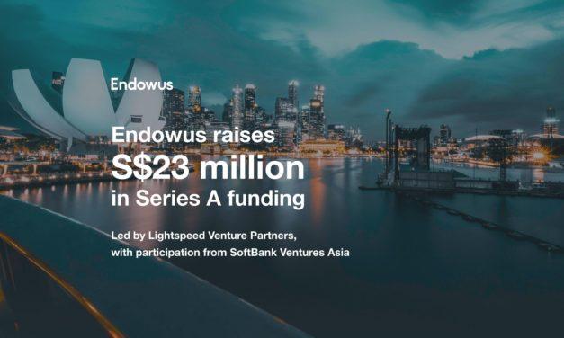 Endowus Raises S$23 million in new funding from Lightspeed Venture Partners and SoftBank Ventures Asia