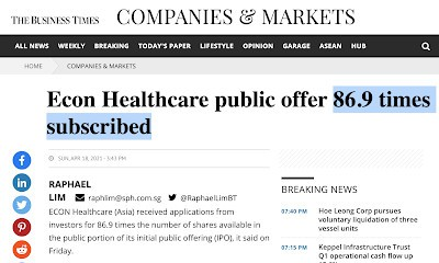 Did you invest in Econ Healthcare's IPO?