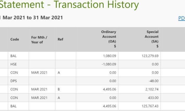 CPF Balances Update – March 2021
