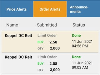 Added more Keppel DC Reit shares in my SRS Ultra-Long Term Portfolio