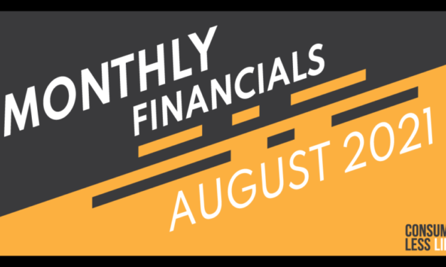 Monthly Financials – August 2021