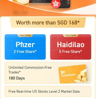 Free Pfizer and Haidilao shares from a low cost, secure and robust trading platform!