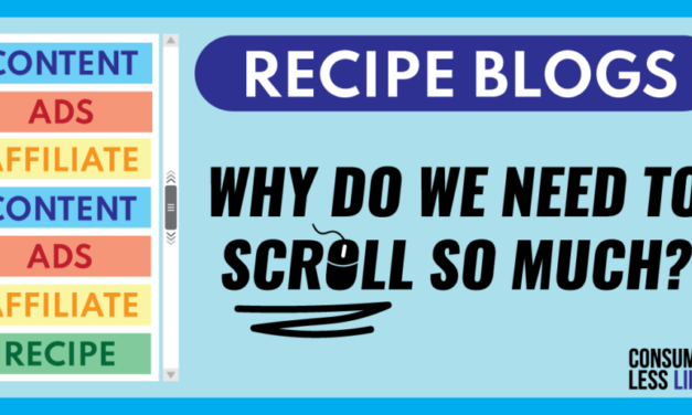 Recipe Blogs – Why Do We Need To Scroll So Much?