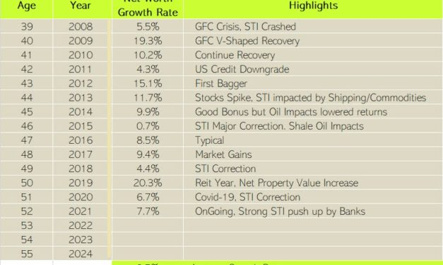 Cory Diary : Annual Net Worth Growth Rate
