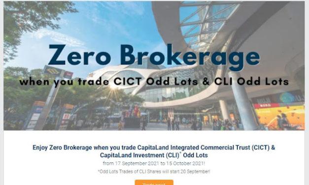Nibbling CICT bit at no brokerage cost
